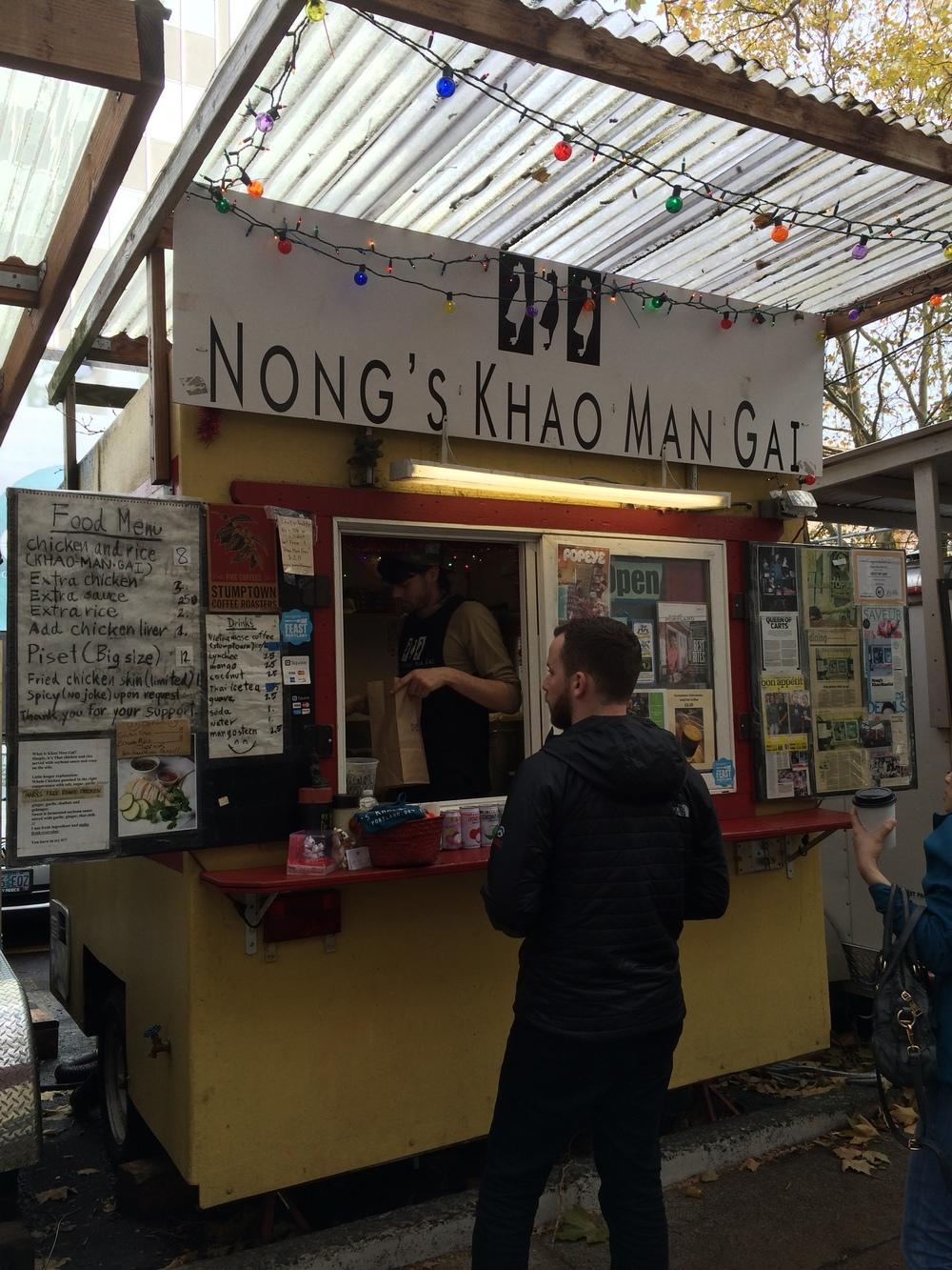 Nong's Khao Man Gai stand