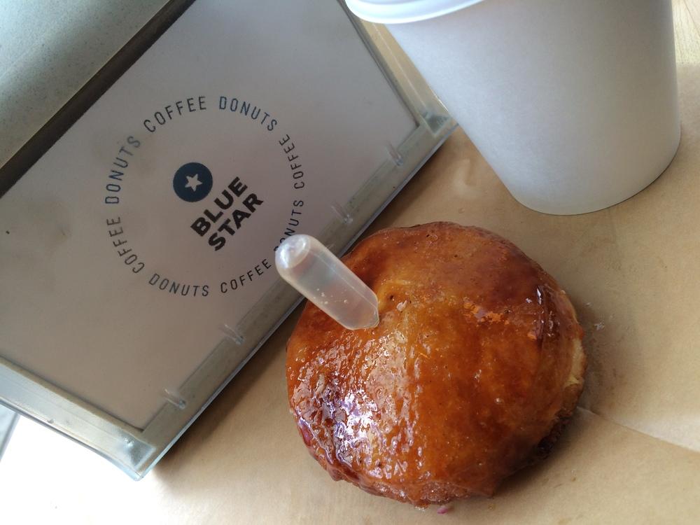 Crème Brulee Blue star donut