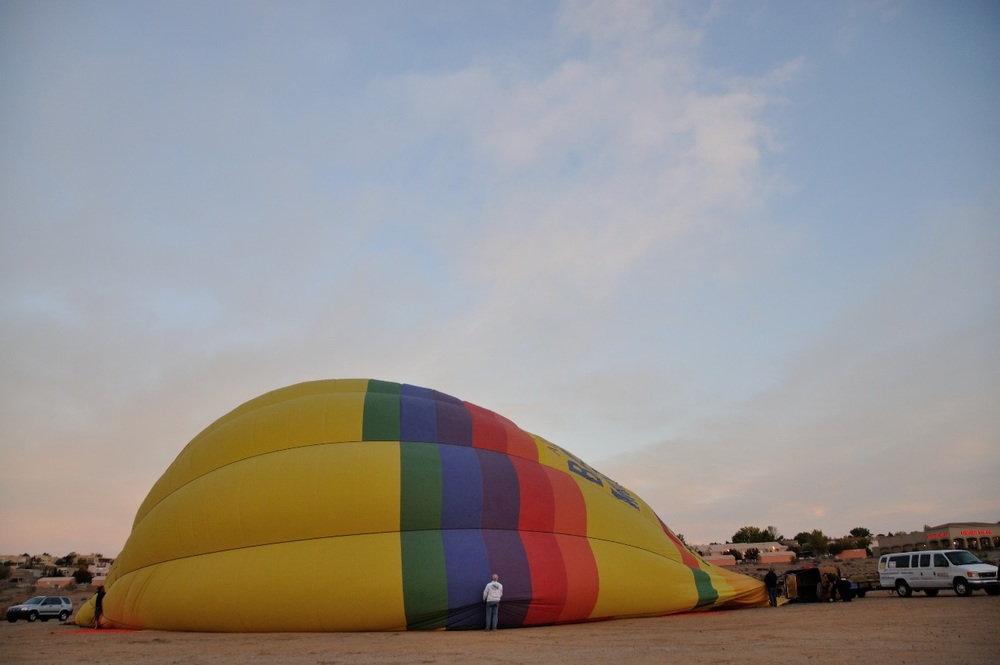 The Balloon being filled