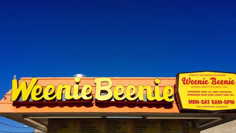 weenie beenie - home of the original half-smoke (photo courtesy facebook)