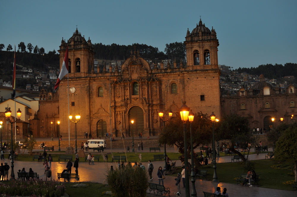 The Plaza De Armas at night