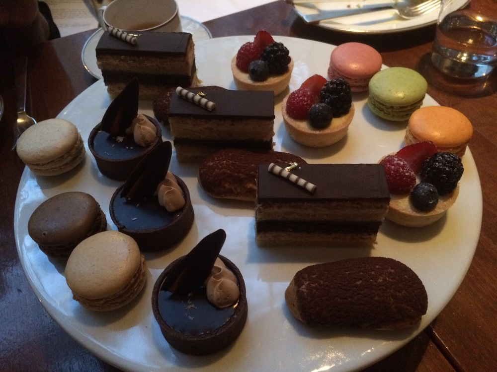 Park Hyatt Afternoon tea - Sweet selection