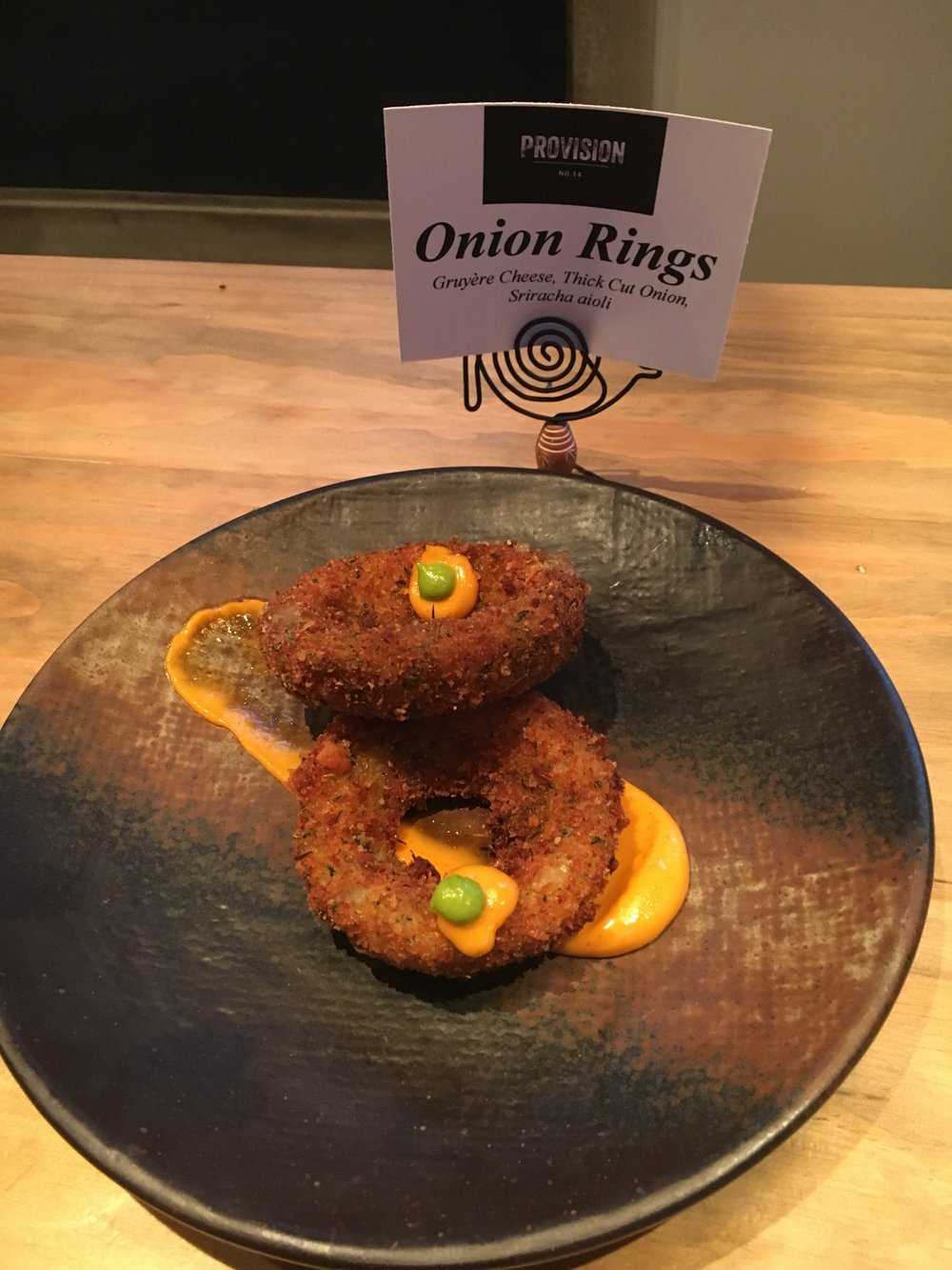 Onion rings at Provision 14
