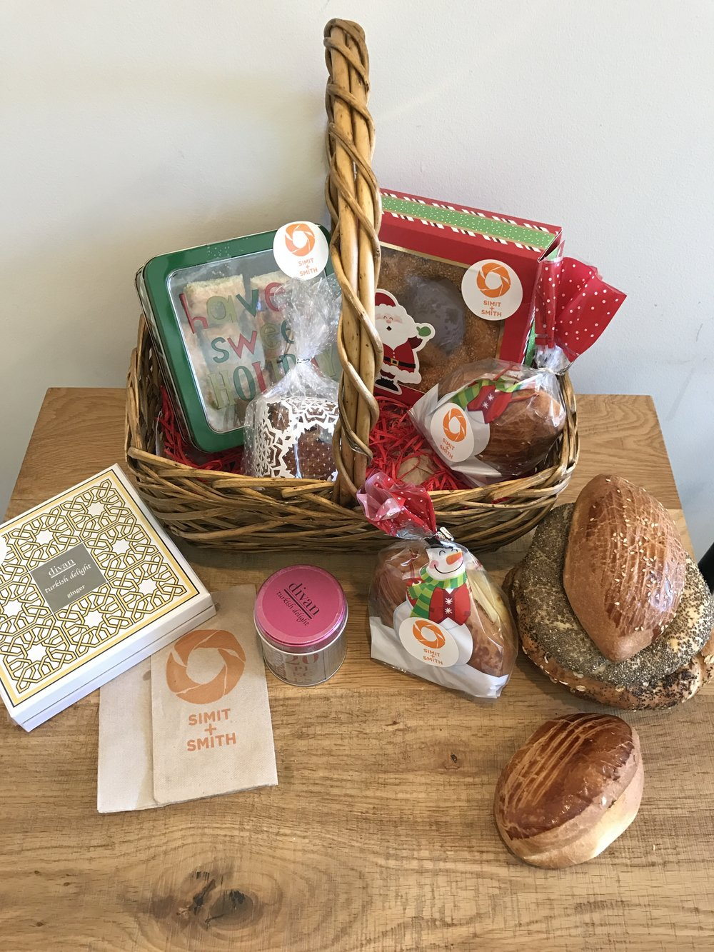 Simit and Smith gift baskets - Photo courtesy Simit and Smith
