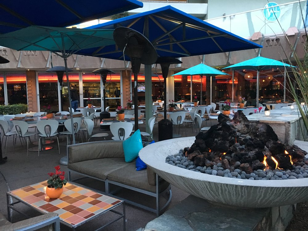 Patio + fire pit - the perfect place to sip a glass of wine!