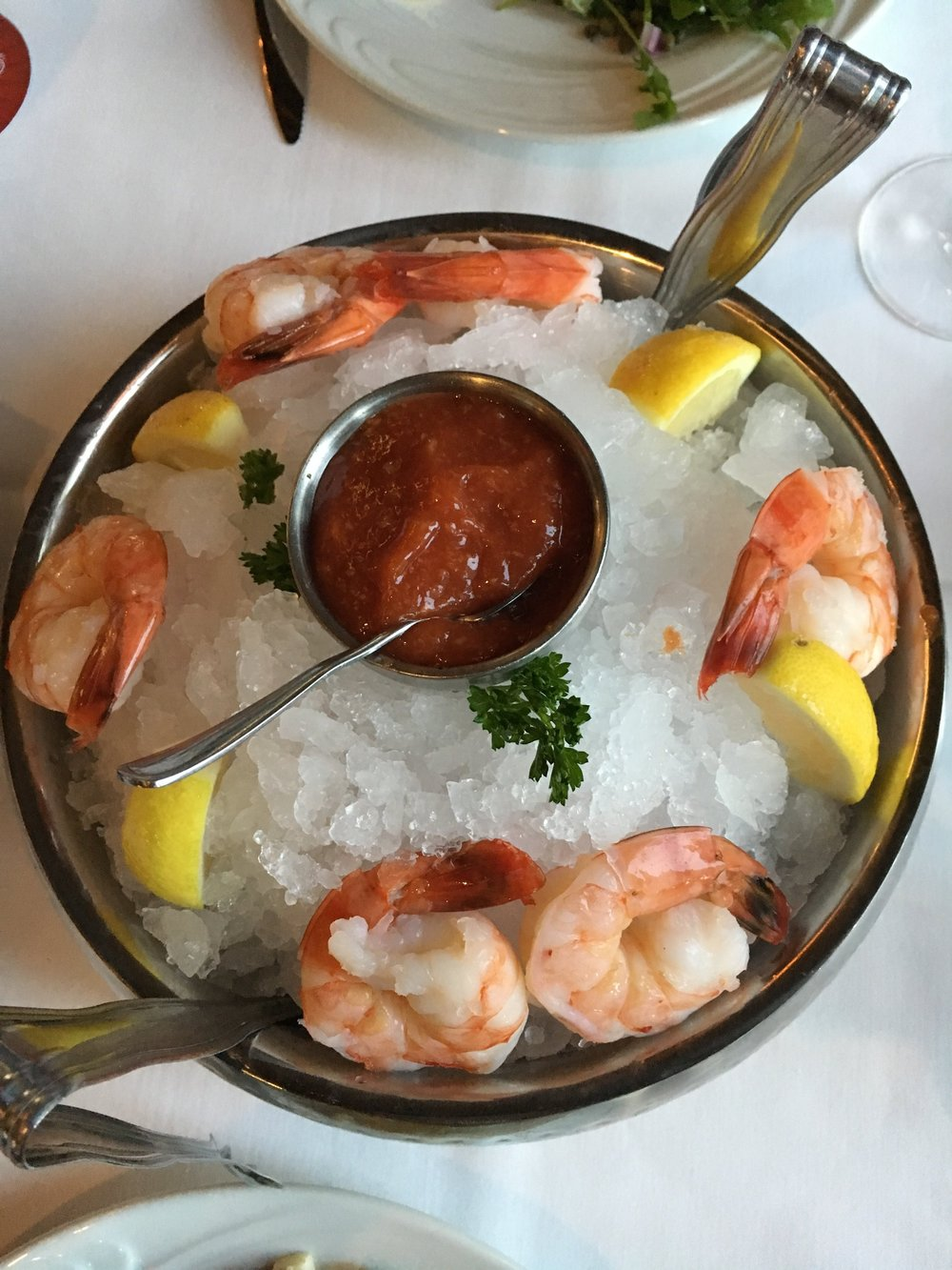 Starting off easy with shrimp cocktail!