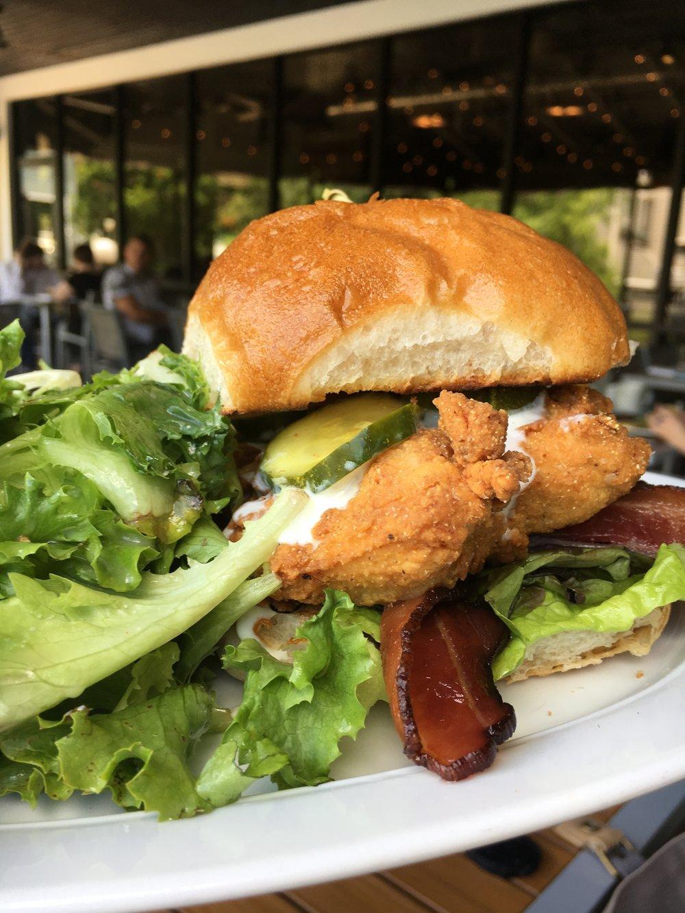 Giant chicken sandwich!