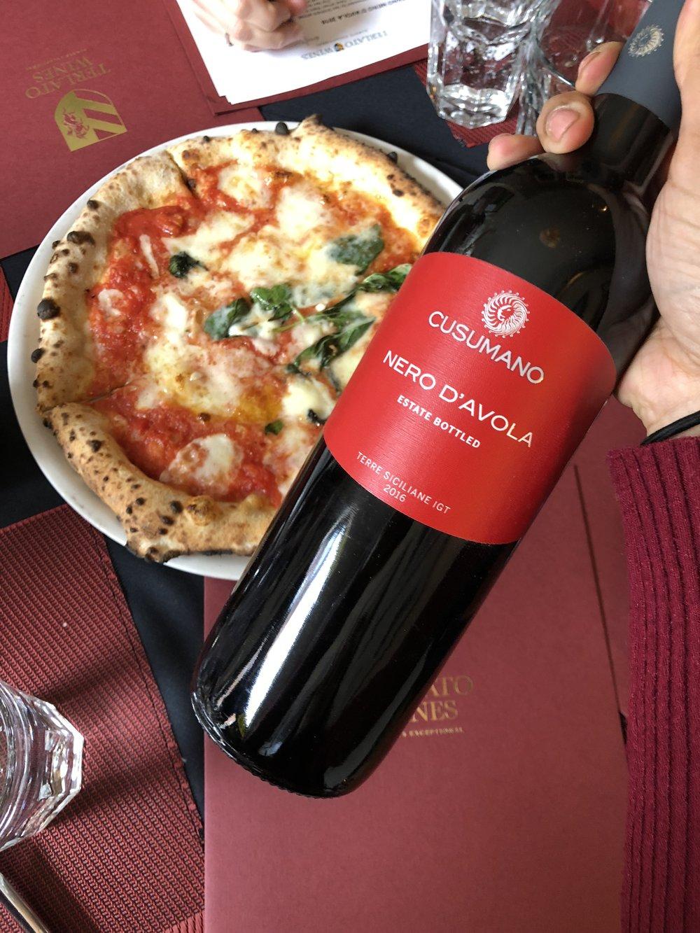 Margherita + Cusumano's Nero D'Avola