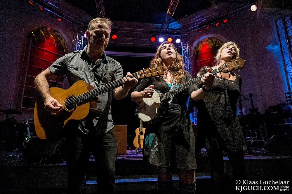 """A great photo from the Netherlands tour with Cara Luft and BJ Baartsman. Click on the photo to go to a video of my song """"The Killer In Me"""" live from Rabotheater in Hengelo, NL."""