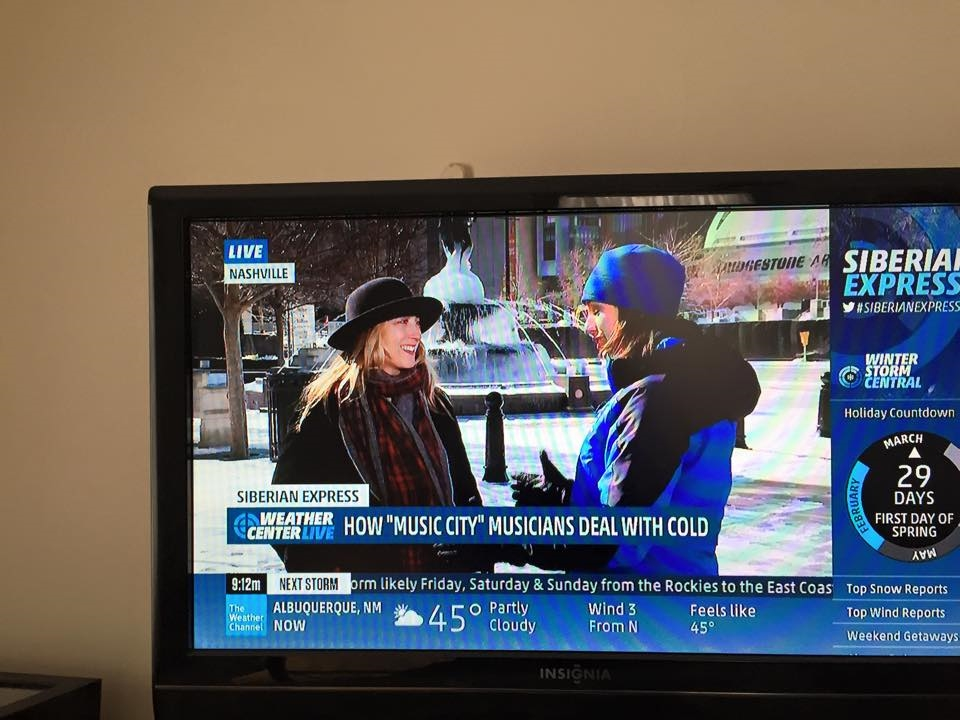 Did you see me on The Weather Channel on Thursday 2/19? It was about 15 degrees outside the Symphony in downtown Nashville!!