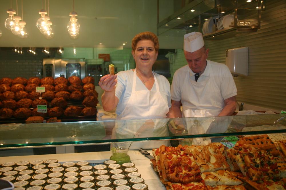 Focaccia tasting in Genoa.