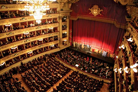 I nterior of La Scala (Milan)