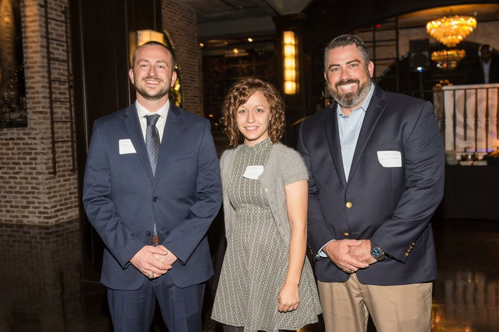 Jay Garrett Jr., founder and executive director of A Life to Live (left), Magan Gonzales, cofounder and program director of A Life to Live (middle), Charles Jackson, executive director of Rescued Pets Movement (right). The three were present for Houston PetSet's annual charitable gifting event.