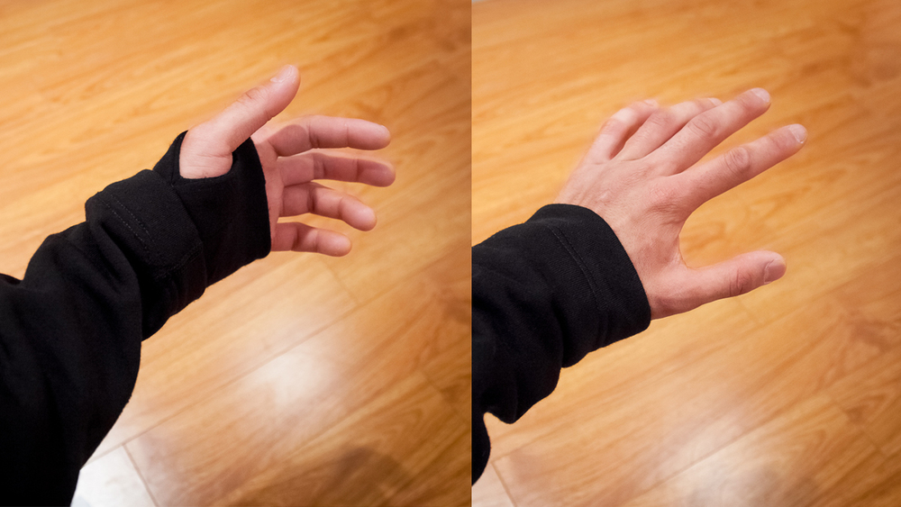 Concealed and unconcealed thumb-loops