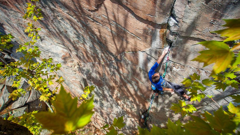 1/4 zip on sweet Ontario granite...