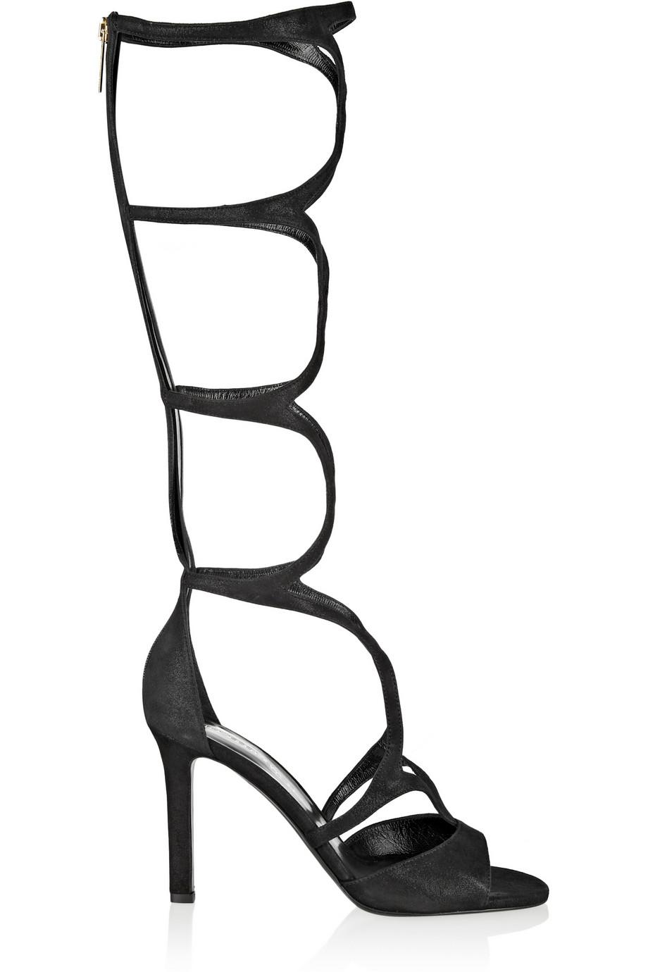 Tamara Mellon Exposure Suede Sandals $597.50