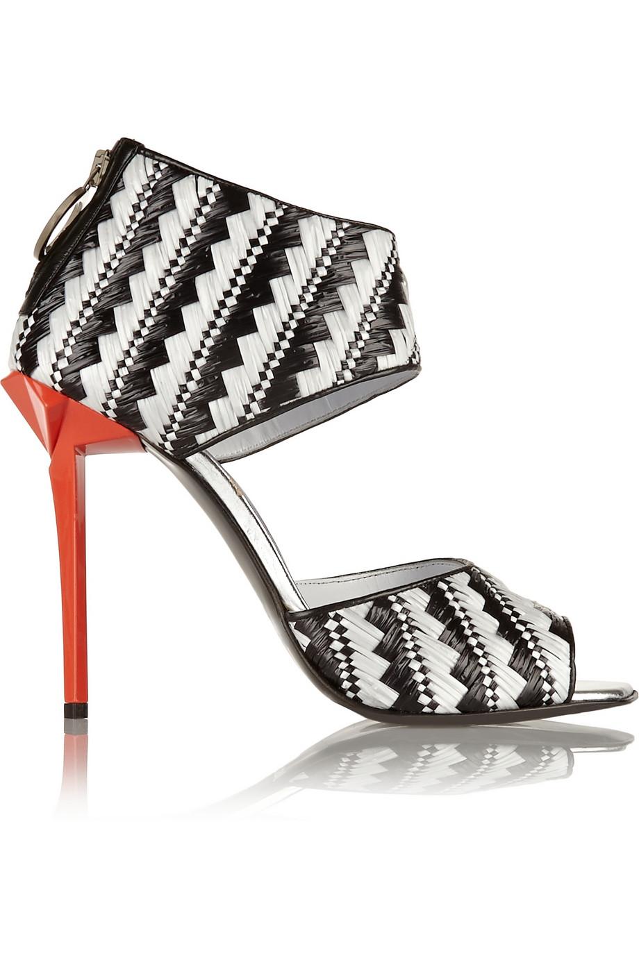 Just Cavalli Raffia Sandals $262.50
