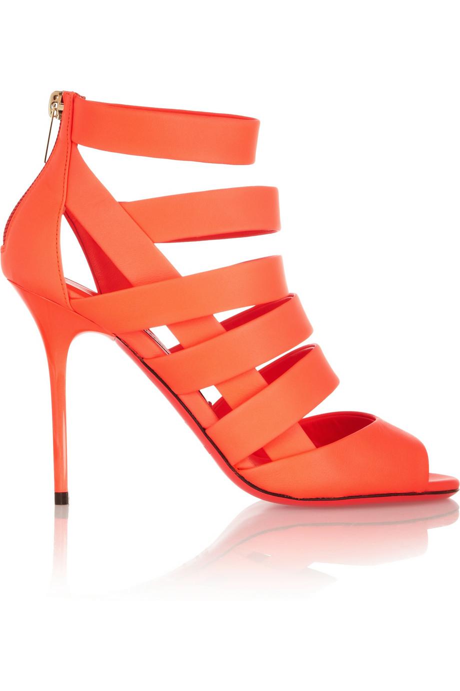 Jimmy Choo Damsen Neon Matte Leather Sandals $547.25