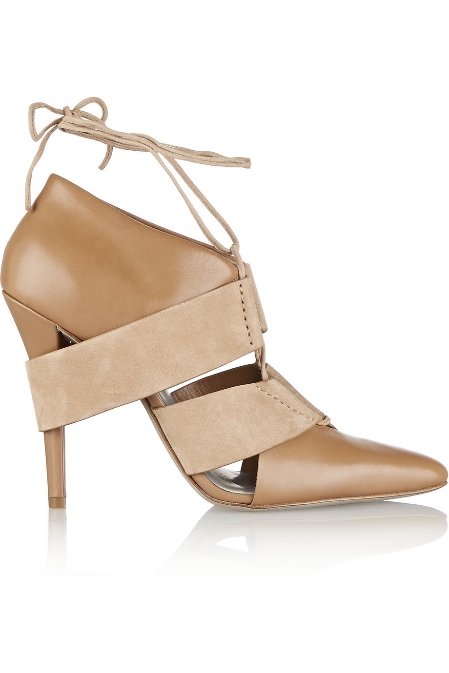 Alexander Wang Mila Leather and Suede Pumps $227.50