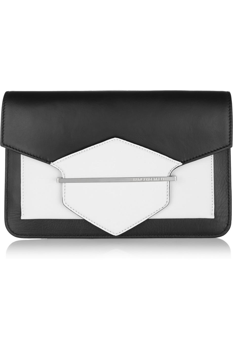 Karl Lagerfeld Khic LeatherClutch $425