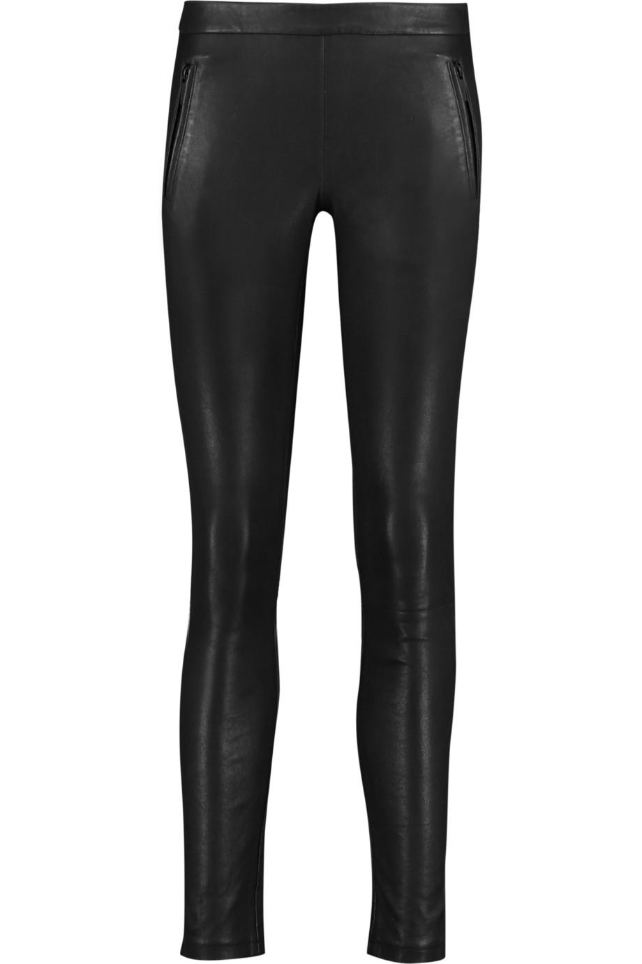 Karl Lagerfeld Leather Skinnys $330