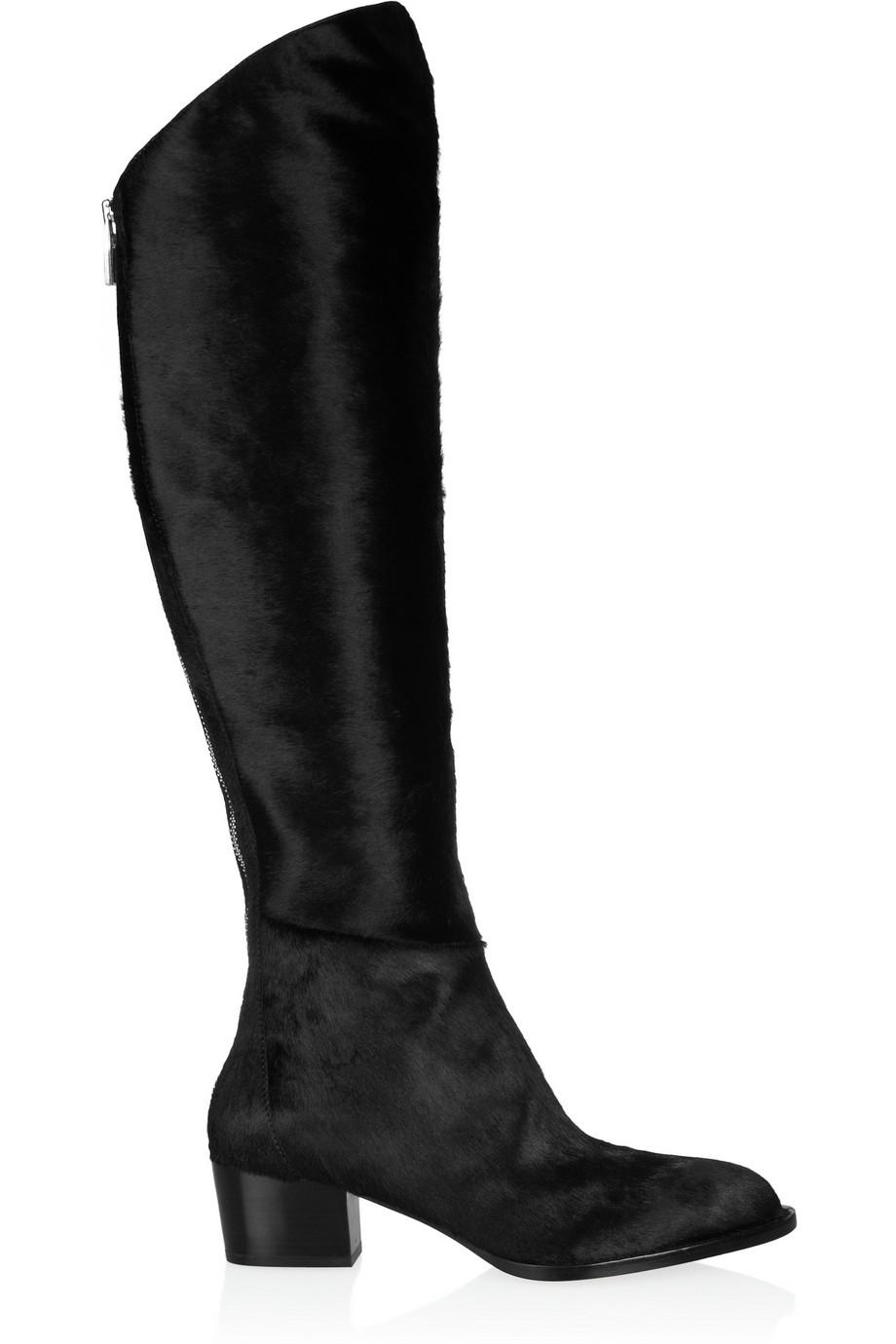 Alexander Wang Singrid Calf Hair Knee Boots $488.25