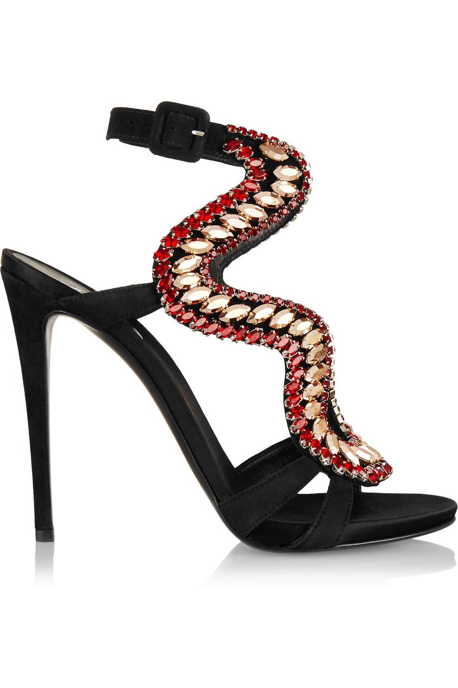 Giuseppe Zanotti Crystal Embellished Sandals $932.75
