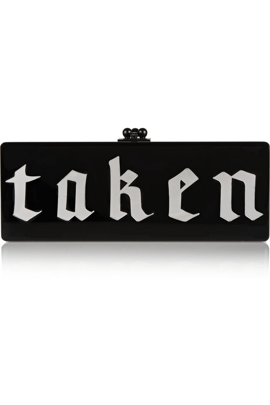 Edie Parker Acrylic Box Clutch $616