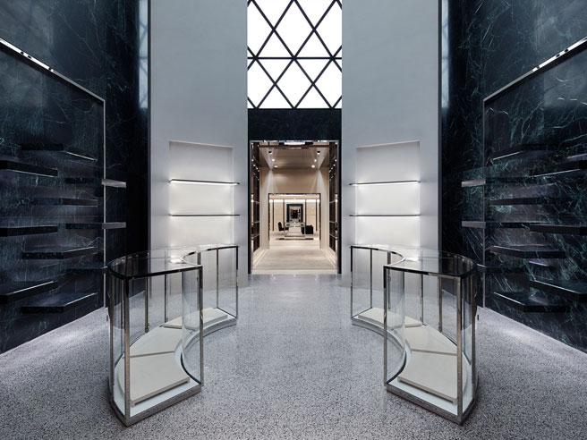 Balenciaga's Green Marble Flagship Store