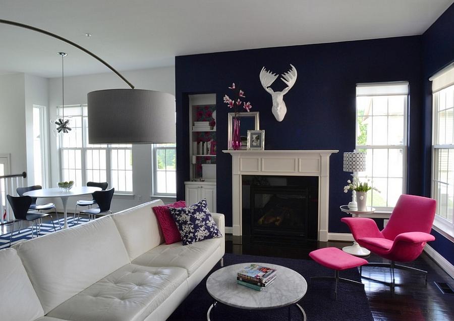 fuchsia chair living room