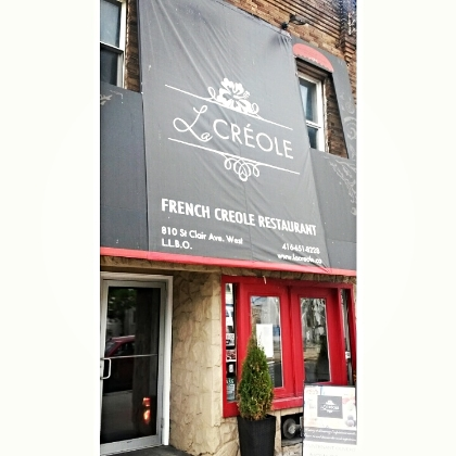 FRENCH CREOLE RESTAURANT - 810 St. Clair Ave. West  Such great food and ambiance.  Try it ALL, you won't be disappointed!!!!