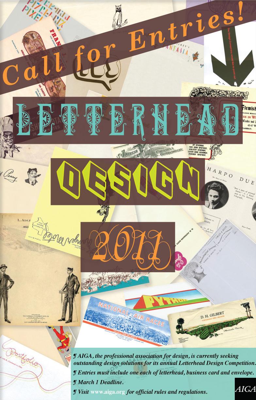 AIGA Letterhead Design Competition Poster