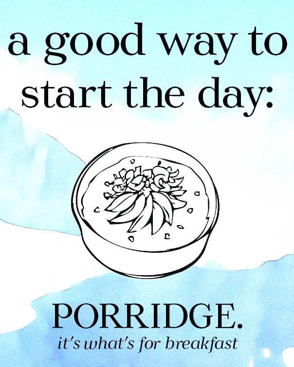 Porridge Advertisement