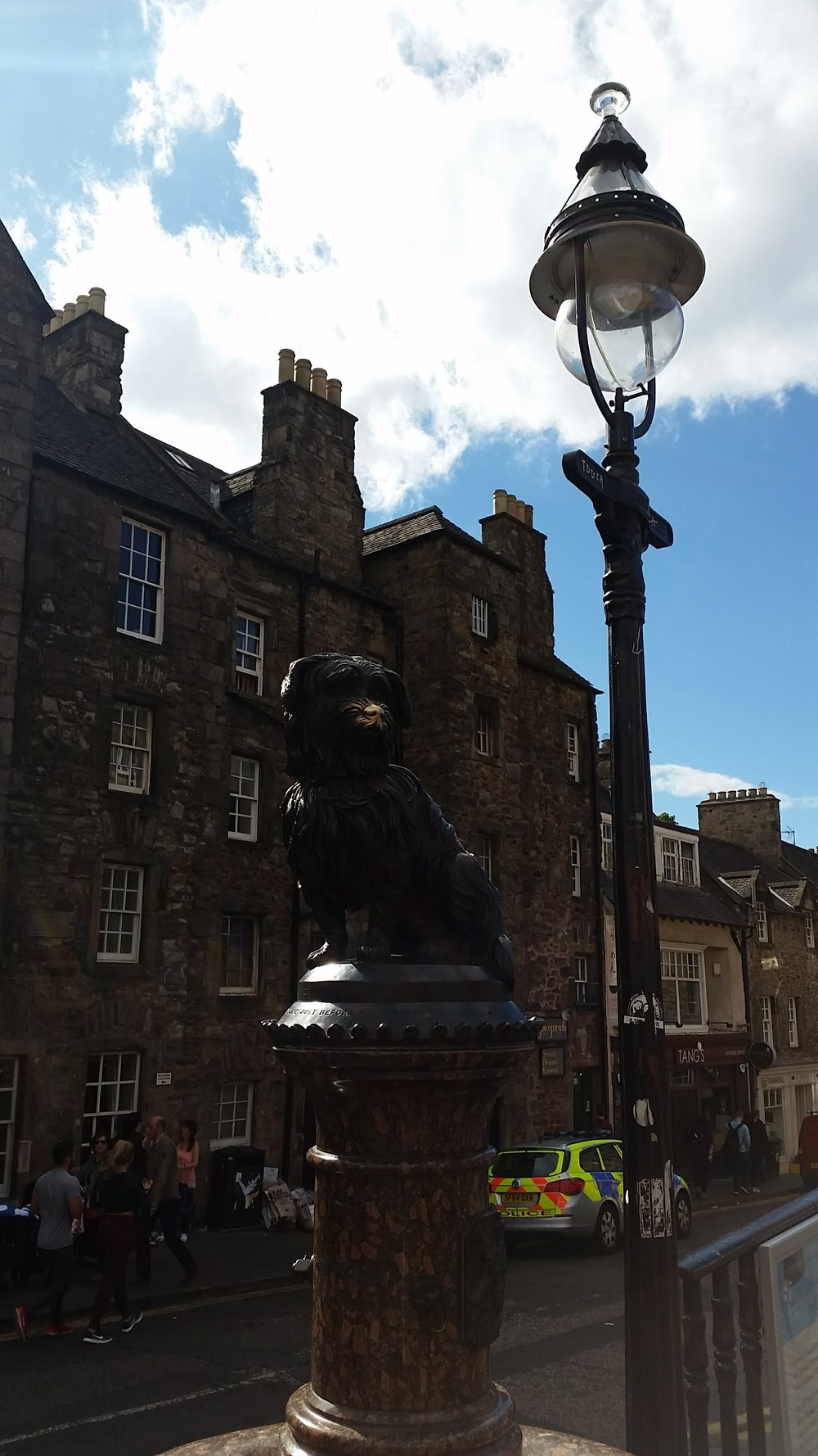 Greyfriars bobby  - the most loyal dog - rub his nose for good luck!