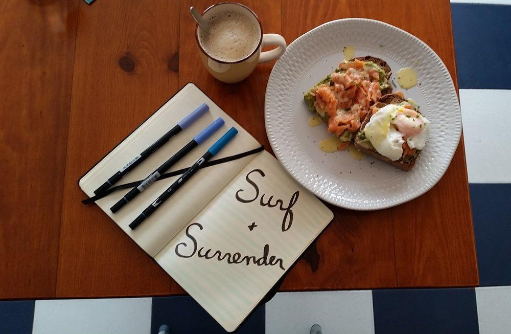 Avocado, Salmon, Egg Toast...nom nom.