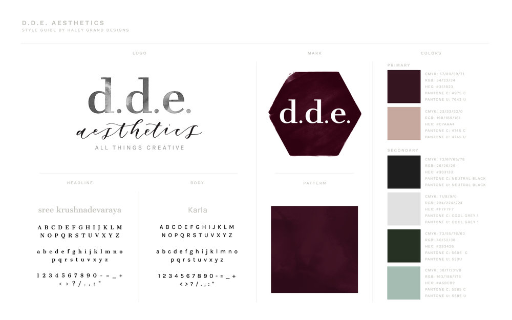 Style Guide and Brand Design For Photographer