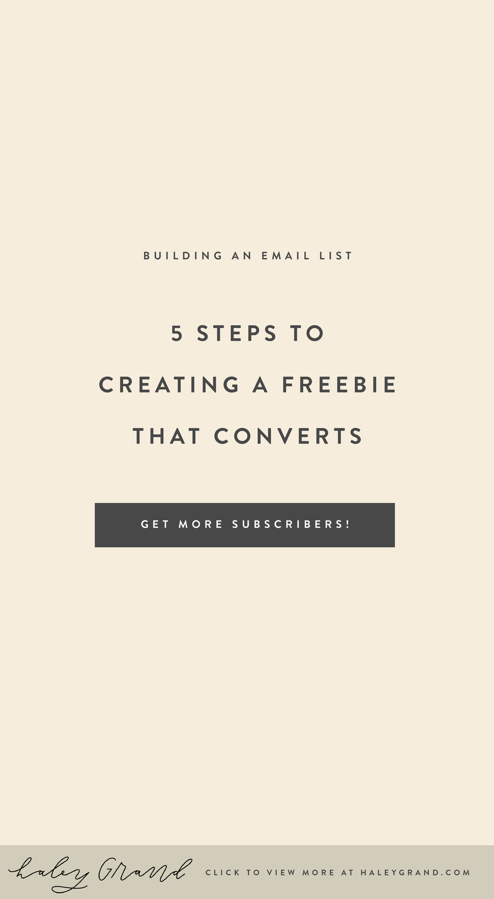 Create a freebie that converts with these 5 simple steps. Take your creative business to the next level today! Click to learn more from Haley Grand. #branding #handlettering
