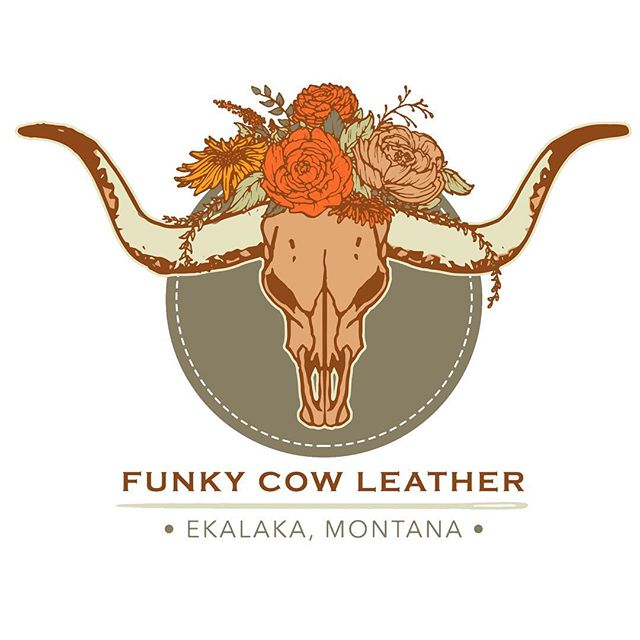 Freshly completed logo for the amazingly talented @thefunkycowleather. #logodesigns #leatherwork #leatherworking #artisticcollaboration #artistsofmontana