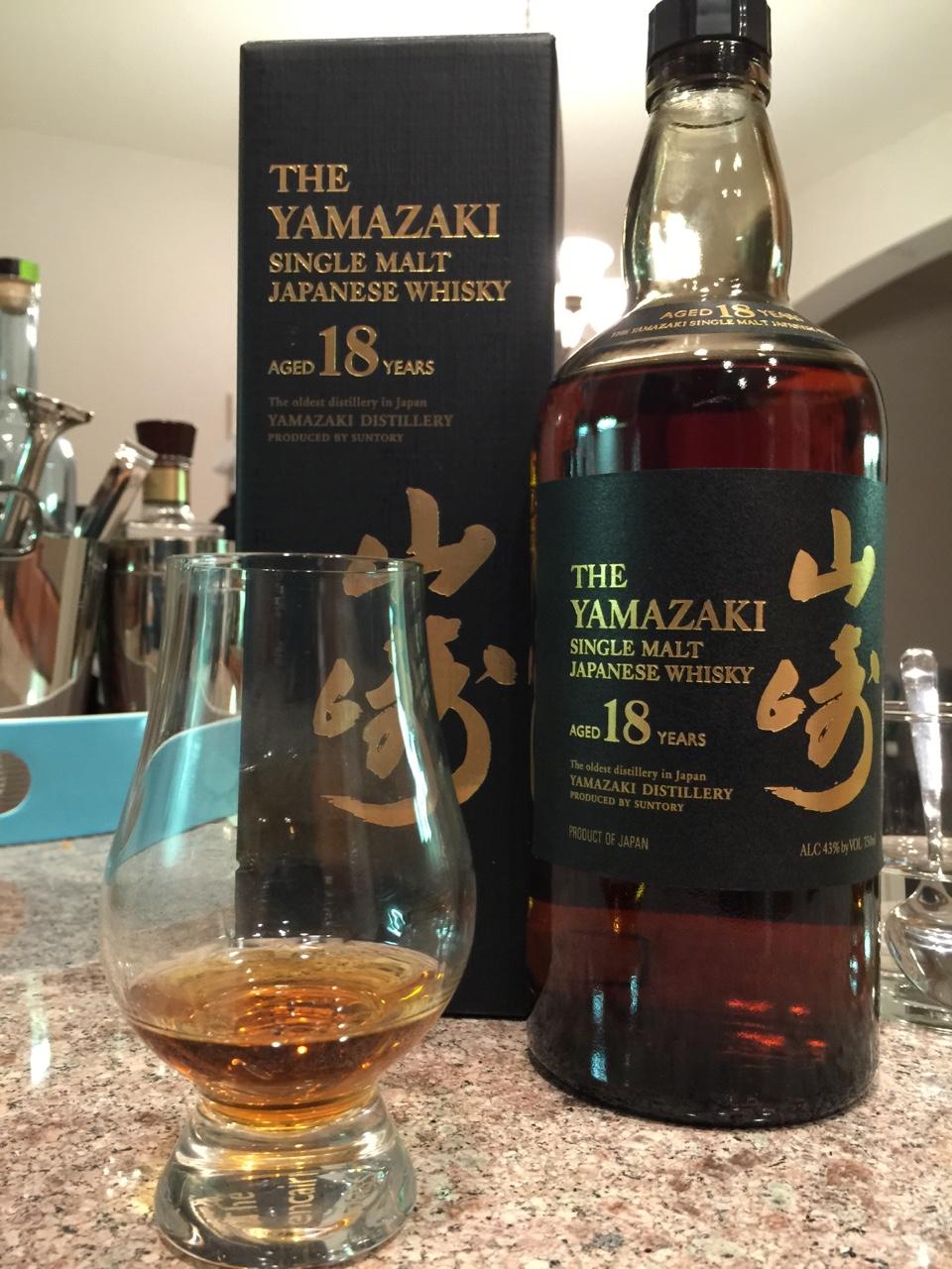 Yamazaki 18yo Single Malt Whiskey.
