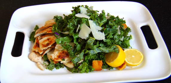 Kale & Collard Cesar Salad (Click for Recipe)