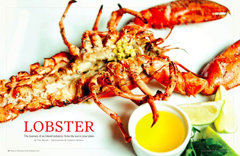 Lobster feature opening spread
