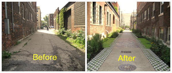 Chicago's Green Alley Program has received world-wide recognition on its efforts and has transformed hundreds of laneways since 2006.