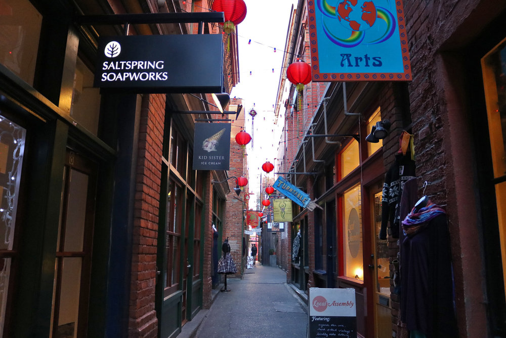Lots of local vendors to explore in Fan Tan Alley - Photo by Katrina Afonso