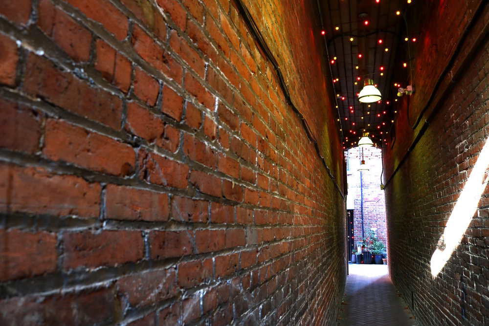 Colour changing lights lead the way to Dragon Alley