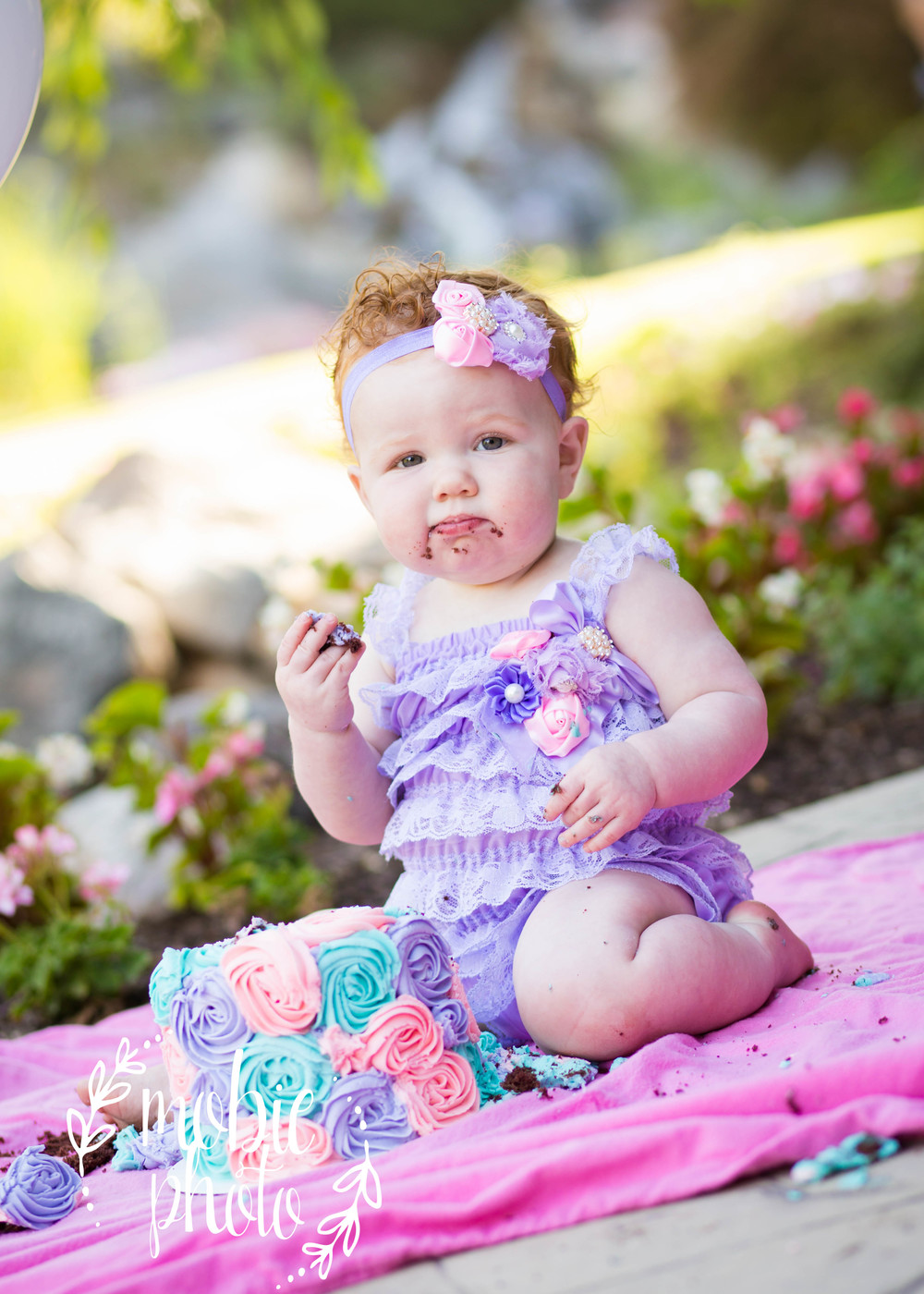 1st Year Photography - Lehi, Utah - Outdoor Cake Smash