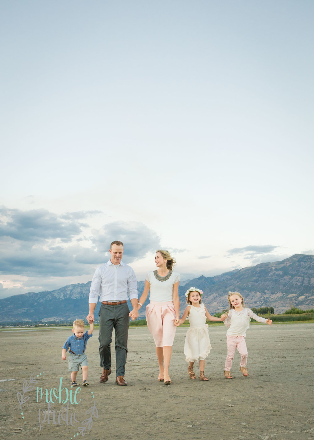 Family portrait on the beach: Utah Lake
