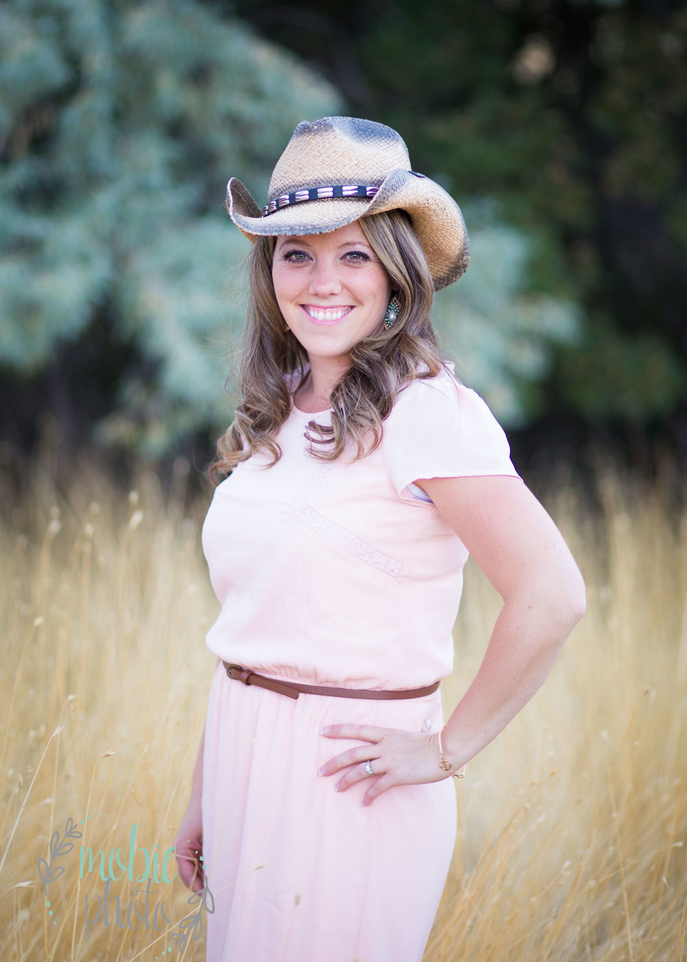 Cowgirl pictures in a field