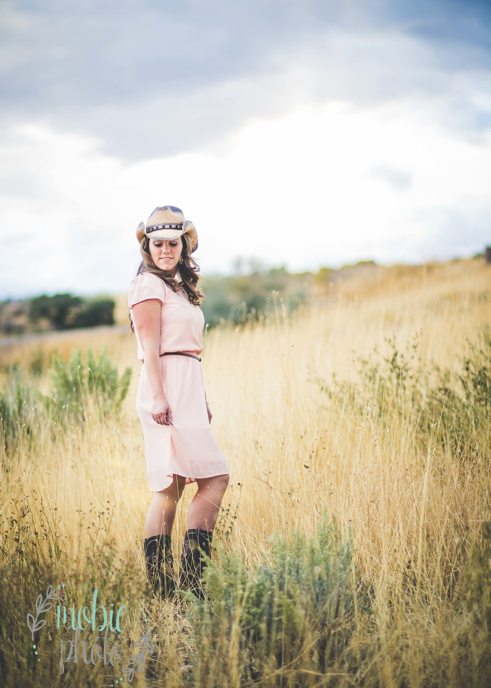 Cowgirl picture in field