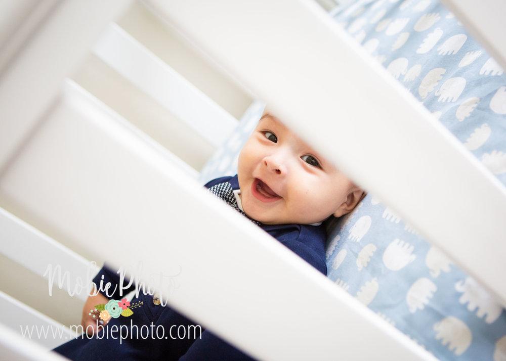 Utah Newborn Photography - Six Month Milestone Shoot in Pleasant Grove, Utah