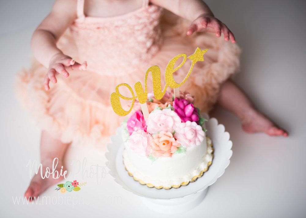 Mobie Photo - Utah Newborn Photographer - First birthday cake smash photo shoot